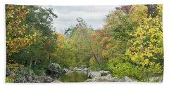 Rocky Creek Shut-ins Beach Towel by Julie Clements