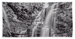 Beach Towel featuring the photograph Rocky Falls - Bw by Christopher Holmes