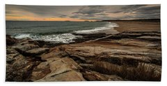 Rocky Maine Shoreline  Beach Towel