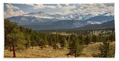 Beach Towel featuring the photograph Rocky Mountain Afternoon High by James BO Insogna