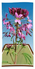 Rocky Mountain Bee Plant Beach Towel