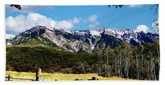 Rocky Mountain Eagle Soars Beach Sheet