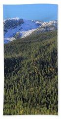 Rocky Mountain Evergreen Landscape Beach Towel