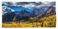 Rocky Mountain Fall Beach Sheet