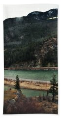Rocky Mountain Foothills Montana Beach Sheet by Kyle Hanson