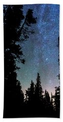 Beach Towel featuring the photograph Rocky Mountain Forest Night by James BO Insogna