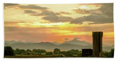Beach Towel featuring the photograph Rocky Mountain Front Range Country Landscape by James BO Insogna