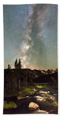 Rocky Mountain Night Beach Towel