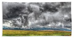 Rocky Mountain Panorama Hdr Beach Towel