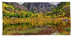 Beach Towel featuring the photograph Rocky Mountain Reflections - Telluride - Colorado by Jason Politte