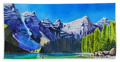 Rocky Mountain Sunrise Beach Towel