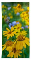 Rocky Mountain Wildflowers Beach Sheet