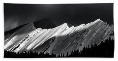 Rocky Mountains In Moonlight Beach Towel
