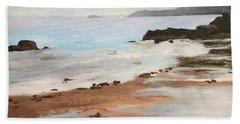 Rocky Neck Beach At Sunset Beach Sheet