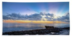 Beach Towel featuring the photograph Rocky Reef At Low Tide by Debra and Dave Vanderlaan