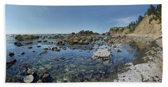 Rocky Sea Panorama Beach Sheet