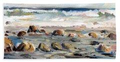 Rocky Seashore Beach Towel