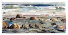 Rocky Seashore Beach Towel