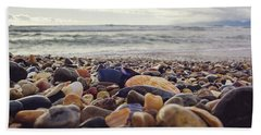 Beach Sheet featuring the photograph Rocky Shore by April Reppucci