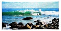 Rocky Shoreline - Dana Point Beach Towel