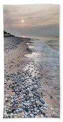 Rocky Shores At Sleeping Bear Point Beach Towel