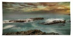 Rocky Shores At Victoria Beach Beach Sheet