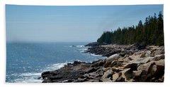 Rocky Summer Shore Beach Sheet