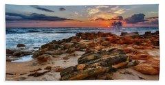 Rocky Sunrise Beach Towel