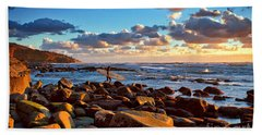 Rocky Surf Conditions Beach Towel