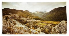 Rocky Valley Mountains Beach Towel