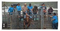 Beach Towel featuring the photograph Rodeo Bronco by Lori Seaman