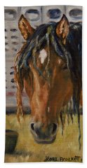 Rodeo Horse Beach Sheet by Lori Brackett