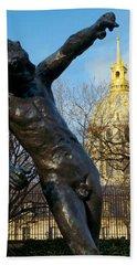 Rodin Playing With Napoleon Beach Sheet