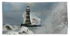 Roker Pier And Lighthouse Beach Towel