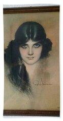 Rolf Armstrongs Dream Girl 1929 Beach Towel