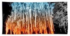 Rolled Tree Orangenblue Beach Towel