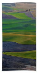 Rolling Fields Of The Palouse Beach Towel by James Hammond