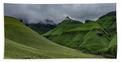 Rolling Green Drakensberg Mountains Beach Towel