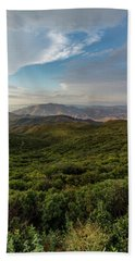 Rolling Hills Of Chaparral Beach Towel