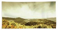 Rolling Hills Of The Tarkine, Tasmania Beach Towel