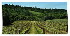 Rolling Hills Winery Grapevines   Beach Towel
