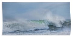 Beach Towel featuring the photograph Rolling In by Robin-Lee Vieira