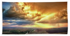 Rolling Rain Of Summer Sunset Beach Towel