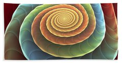 Beach Towel featuring the digital art Rolling Spiral by Anastasiya Malakhova
