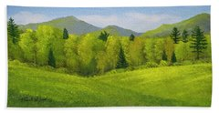 Beach Towel featuring the painting Rolling Spring Pastures  by Frank Wilson
