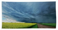 Storm Cell Beach Towels
