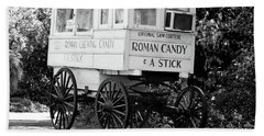 Roman Candy - Bw Beach Towel