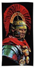 Roman Centurion Portrait Beach Towel