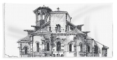 Roman Church At Chamalieres Beach Towel