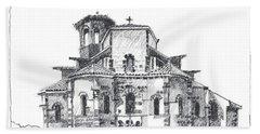 Roman Church At Chamalieres Beach Sheet